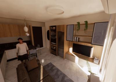 Panoramica cucina e soggiorno (1)
